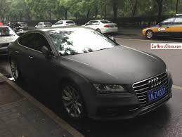 matte black audi. audi a7 is matte black in the rain china