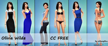 My Fabulous Sims: Olivia Wilde by schlumpfina • Sims 4 Downloads