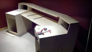 White stain wooden desk ...