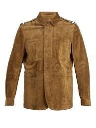 berluti suede leather field jacket