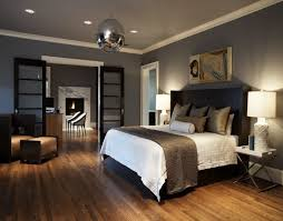 Gray And Brown Bedroom