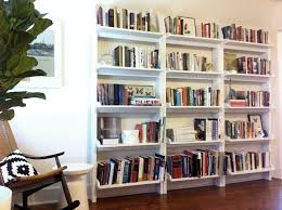 ... Built In Bookcase Cost Custom Bookshelves Ikea Low Legged Whtie  Bookshelves Airy Reading ...