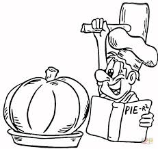 Small Picture Cooking a Pumpkin Pie coloring page Free Printable Coloring Pages