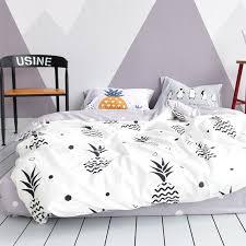 black white and gray pineapple print
