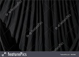 close up of black dd theatrical curtain or backdrop