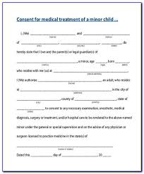Child Medical Consent Form For Grandparents Medical Consent Form For Child Template Form Resume Examples