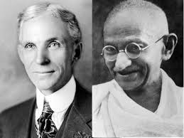 henry ford. Wonderful Ford Henry Ford And Mohandas Gandhi Exchanged Tokens Of Mutual Admiration During  World War II Wikimedia Commons To