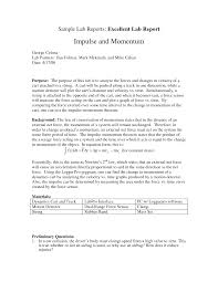 lab report writing sample lab report template