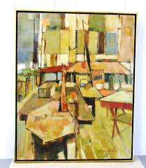 art class by audrey salkind original acrylic painting abstract expressionism figurative listed artist signed pinned