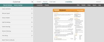 resume templates for visual resumes the muse creddle is a completely resume making site that tailor makes an auto formatted document from your personal information enter manually or sync from