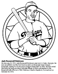 Small Picture Jackie Robinson Baseball Player Coloring Page crayolacom