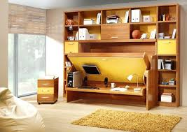 Hidden Office Desk Bed With Contemporary Home And Library Oak