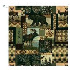 useful lake house shower curtains wildlife curtain rustic log cabin rules usefu