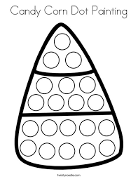 candy corn coloring page. Exellent Coloring Candy Corn Dot Painting Coloring Page Throughout