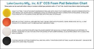 Set Of 8 Lake Country 6 5 Ccs Foam Cutting Polishing Finishing Pads