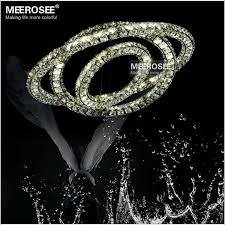 three diamond rings crystal led chandelier pendant lamp