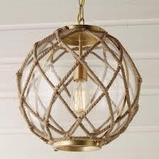 coastal lighting coastal style blog. Jute Rope Globe Pendant Coastal Lighting Style Blog