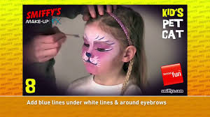 cat face painting make up tutorials for children