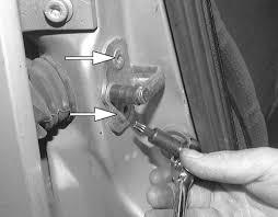 car door latch striker. Fig. Removal Of The Door Striker Car Latch I