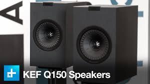 kef speakers q series. kef q150 bookshelf speakers - hands on review kef q series