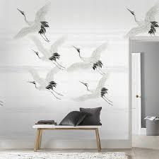 Fotobehang Kraanvogels Dessin 105420 Mooooooi Slaapkamer