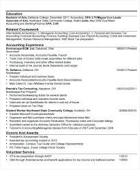 Objective In Internship Resume Accounting Internship Resume Sample Internship Resume Examples 91