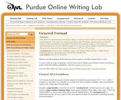 Apa Owl Apa Formatting And Style Guide From Owl At Perdue Education