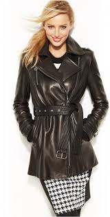 michael michael kors michl michl kors moto leather trench coat