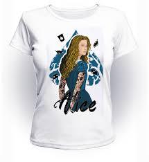 футболка Geekland алиса в стране чудес Alice In Wonderland Tattoo Art Aw01007