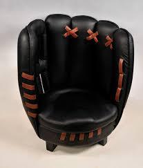 leather baseball glove chair