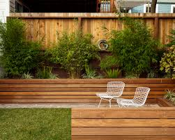 Small Picture beautiful landscape exterior with wooden retaining walls and patio