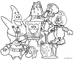 Small Picture Spongebob Squarepants Coloring Pages intended for Invigorate