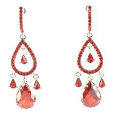 surprising red chandelier earrings fashion welry and pageant earrings at