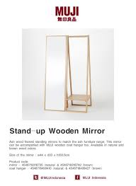 Muji Coat Rack New Ash Wood Framed Standing Mirrors To Match The Ash Furniture Range