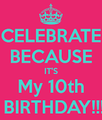 Image result for 10th birthday