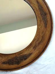 round wood wall mirror round framed mirror wood frame wall wood wall mirrors