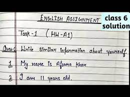 Class 9 assignment answer 2021 new assignment notice (bangla, english, math, bgs, chemistry, science, physics, higher math, biology. Class 6 English Assignment English Assignment Solution 6 Class How To Write English Assignment Youtube