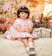 <b>60cm Silicone Reborn Baby</b> Doll Toys Vinyl Princess Toddler ...