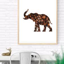 elephant printable wall art elephant wood art woodland print  on wood elephant nursery wall art with best vintage elephant decor products on wanelo