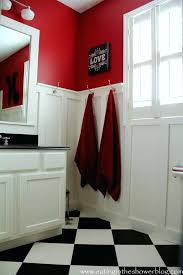 red black and white bathrooms designs best red bathroom decor ideas on bedroom lofty black pertaining