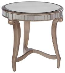 bassett mirror hollywood glam celine round end table