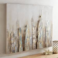 stylish design pier one wall art metal city skyline 1 imports