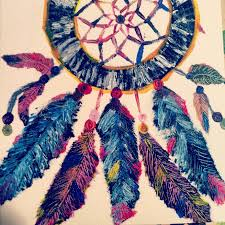 Colorful Dream Catcher Tumblr 1000x100 Colorful Hippie Beaded Dreamcatcher Painting Dream catcher 26