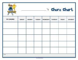 Free Printable Pokemon Chore Chart Printable Reward Charts