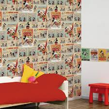 Minnie Mouse Wallpaper For Bedroom Disney Vintage Mickey Wallpaper Amazoncouk Diy Tools