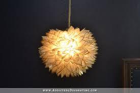 faux capiz shell flower pendant light 11