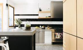 black and white subway tiles for kitchen