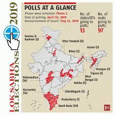 lok sabha elections 2019 details of 95