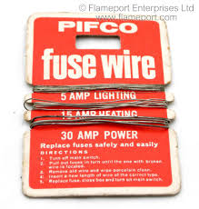 pifco brand fusewire cards pifco fuse wires on card