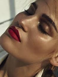 summer makeup bronzy melted hues do work well with a strong matte red lip sonya gorelova by hong jang hyun for mixt e magazine summer 2016